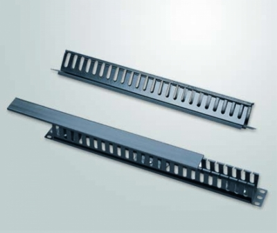 Cable Manager Closed Type 1RU  PVC Profile, 24 Slit